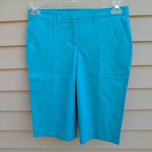 |NY & Co| Bermuda Shorts Blue Dressy Cotton